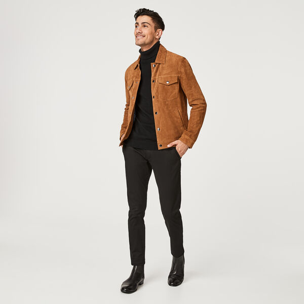 Bentleigh Leather Jacket, Tan, hi-res
